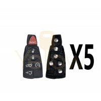 (5 PACK) 6 BUTTON REPLACEMENT RUBBER PAD FOR FOBIK KEYS