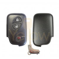 REPLACEMENT 3 BUTTON REMOTE SHELL FOR LEXUS SMART KEY HYQ14AAB, HYQ14ACX, HYQ14AAF