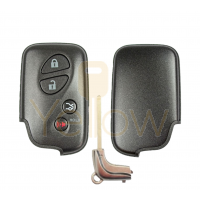 REPLACEMENT 4 BUTTON REMOTE SHELL FOR LEXUS SMART KEY HYQ14AAB, HYQ14ACX, HYQ14AAF