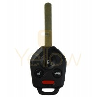 4 BUTTON REMOTE HEAD KEY REPLACEMENT FOR SUBARU - PN 57497-AJ10A
