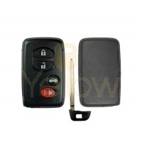REPLACEMENT 4 BUTTON REMOTE SHELL FOR TOYOTA SMART KEY HYQ14AAB