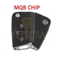 2015-2018 VOLKSWAGEN GOLF, GTI 4 BUTTON FLIP KEY W/ COMFORT ACCESS  - PN 5G0 959 752 BE (MQB )