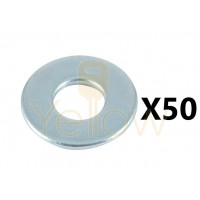 (50 PIECES) 3 / 8 FLAT WASHERS