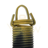 7' HIGH DOOR (25-42) .2890 - 2.325 - 25 CLIPPED EXTENSION SPRING (PULLS 330 LBS - YELLOW)