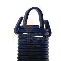 7' HIGH DOOR (25-42) .2437 - 1.95 - 25 CLIPPED EXTENSION SPRING (PULLS 240 LBS - BLUE)
