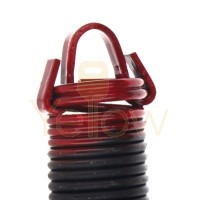 7' HIGH DOOR (25-42) .2437 - 1.919 - 25 CLIPPED EXTENSION SPRING (PULLS 250 LBS - RED)