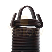 7' HIGH DOOR (25-42) .2500 - 1.975 - 25 CLIPPED EXTENSION SPRING (PULLS 260 LBS - BROWN)