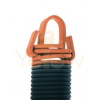8' HIGH DOOR (27-48) .2625 - 2.162 - 27 CLIPPED EXTENSION SPRING (PULLS 270 LBS - ORANGE)
