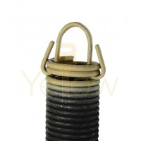 7' HIGH DOOR (25-42) .3125 - 2.441 - 25 CLIPPED EXTENSION SPRING (PULLS 400 LBS - TAN)