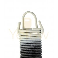7' HIGH DOOR (25-42) .2730 - 2.142 - 25 CLIPPED EXTENSION SPRING (PULLS 310 LBS - WHITE)