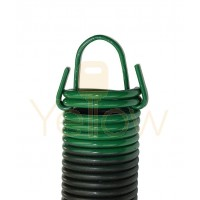 7' HIGH DOOR (25-42) .2830 - 2.25 - 25 CLIPPED EXTENSION SPRING (PULLS 320 LBS - GREEN)