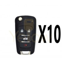 (10 PACK) XHORSE GM STYLE - 4B UNIVERSAL REMOTE FLIP KEY FOR VVDI KEY TOOL (WIRELESS)