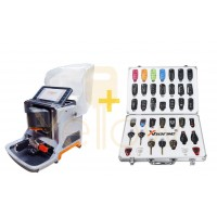 XHORSE CONDOR XC-MINI PLUS MASTER SERIES AUTOMATIC KEY CUTTING MACHINE + UNIVERSAL REMOTE SET W/ ALUMINUM CASE