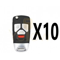 (10 PACK) XHORSE AUDI STYLE - 4B UNIVERSAL REMOTE FLIP KEY (WIRED)