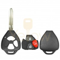 DURASHELL TOYOTA 3 BUTTON REMOTE KEY SHELL