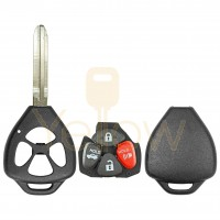 DURASHELL TOYOTA 4 BUTTON REMOTE HEAD KEY SHELL