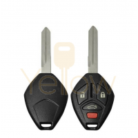 DURASHELL MITSUBISHI 4 BUTTON REMOTE HEAD KEY SHELL