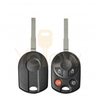 DURASHELL FORD 4 BUTTON REMOTE HEAD KEY SHELL