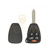 E-SHELL EXTRA STRENGTH 5 BUTTON REMOTE HEAD KEY SHELL FOR CHRYSLER / JEEP / DODGE