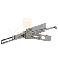 ORIGINAL LISHI HU66 VAG SINGLE LIFTER AUDI VOLKSWAGEN 2-IN-1 PICK - IGNITION / DOOR / TRUNK - ANTI GLARE