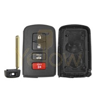 REPLACEMENT 4 BUTTON  REMOTE SHELL FOR TOYOTA SMART KEY HYQ14FBA