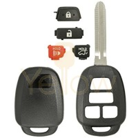 4 BUTTON REMOTE KEY SHELL WITH HATCH FOR TOYOTA  GQ4-52T