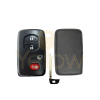 REPLACEMENT 4 BUTTON REMOTE SHELL FOR TOYOTA SMART KEY HYQ14AAB, HYQ14ACX