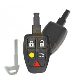 REPLACEMENT 2004-2007 VOLVO C30 / C70 / S40 / V50 - 5 BUTTON KEYLESS ENTRY REMOTE - PN 30772198