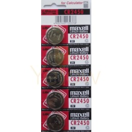 MAXELL CR2450  BATTERY 5-PACK