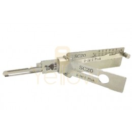 ORIGINAL LISHI SC20 / A1145L / SCHLAGE L KEYWAY / RESIDENTIAL COMMERCIAL 2-IN-1 PICK