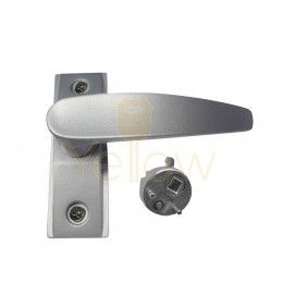 ADIR - NARROW STILE MORTISE REVERSIBLE LOCK LEVER HANDLE - RIGHT HANDED - (ALUMINUM FINISH)