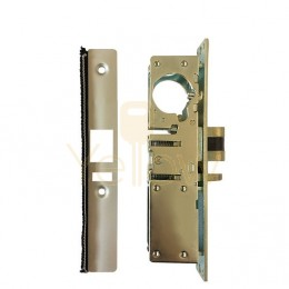 ADIR - COMMERCIAL STOREFRONT DEAD-LATCH NARROW STILE MORTISE LOCK - 1-1/2'' - RIGHT HANDED (ALUMINUM FINISH)