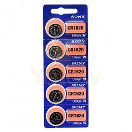 SONY CR1620 BATTERY 5-PACK