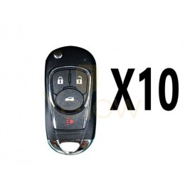 (10 PACK) XHORSE BUICK STYLE - 4B UNIVERSAL REMOTE FLIP KEY FOR VVDI KEY TOOL (WIRED)
