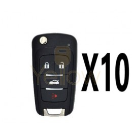 (10 PACK) XHORSE GM STYLE - 4B UNIVERSAL REMOTE FLIP KEY FOR VVDI KEY TOOL (WIRED)