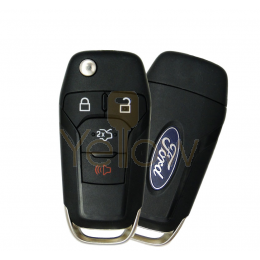2013-2016 FORD FUSION HIGH SECURITY REMOTE FLIP KEY 4 BUTTON TRUNK PN  164-R7986