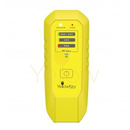 YELLOW KEY SUPPLY FREQUENCY RF/ IR REMOTE TESTER. 315/433/902/ MHZ